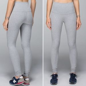 Lululemon Heather Grey Wunder Under Pants Leggings